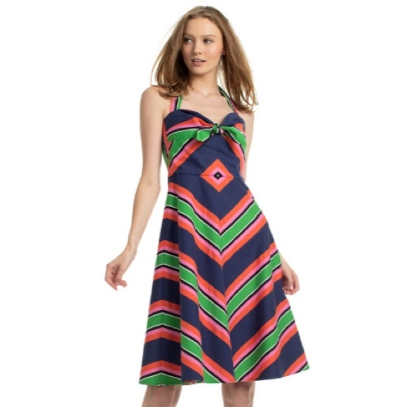 Trina Turk Dresses & Skirts - Trina Turk Rhiannon Striped Halter Dress